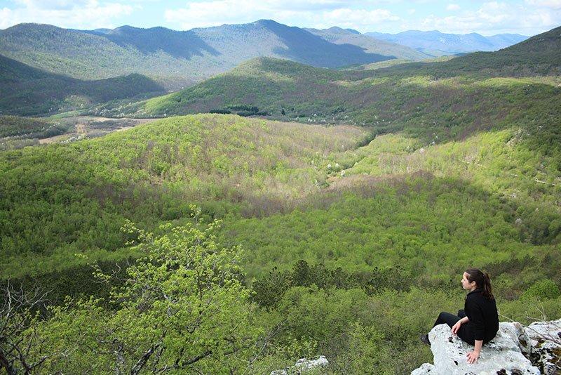 OBC aktivnosti u prirodi - Pogled s vrha planine