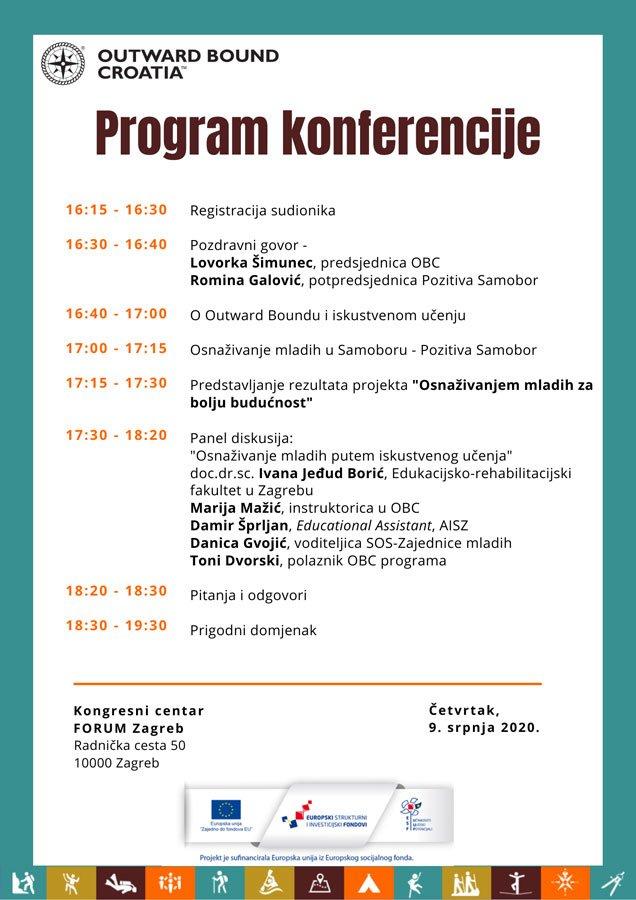 """Program - Završna konferencija projekta """"Osnaživanjem mladih za bolju budućnost"""""""